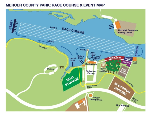 PNRA Race Course & Event Map